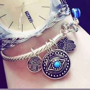 Jewelry - Evil Eye and Hamsa God Hand bangle bracelet